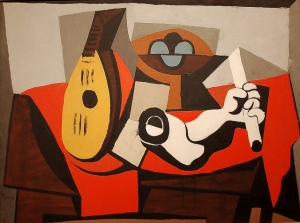 Mandolin, Fruit Bowl, and Plaster Arm 1925 Pablo Picasso (Spanish, 1881-1973). MET